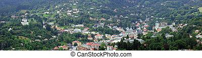 Panorama of Banska Stiavnica (Slovakia) - Panorama summer...