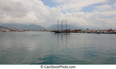 panorama of bay in Alanya Turkey