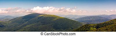 panorama of beautiful Carpathian mountains. lovely forenoon...