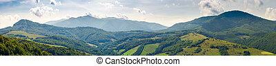 panorama of beautiful Carpathian mountains. perfect...
