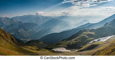 Panorama of beautiful mountains