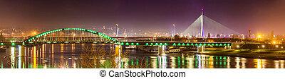 Panorama of Belgrade over the Sava river - Serbia