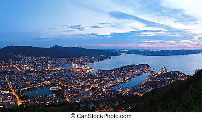 Panorama of Bergen Norway