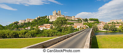 Beziers in a summer day