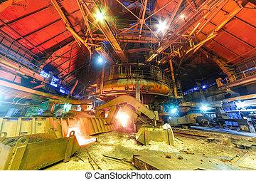 Panorama of blast furnace workshop