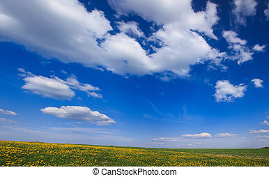 panorama of blue sky