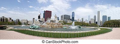 Panorama of Buckingham Fountain