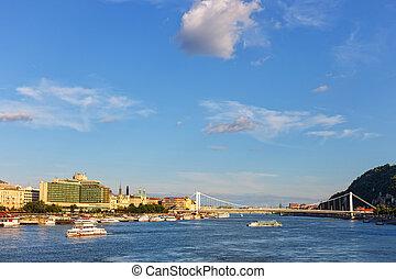 panorama of Budapest Hungary.