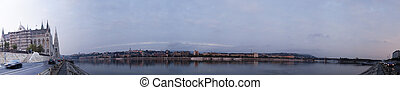 Panorama of Budapest in the morning time