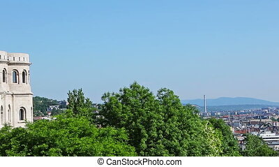 Panorama of Budapest with the Danube