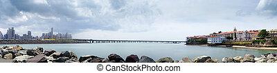 Panorama of casco antiguo panama city skyline - Tourist...