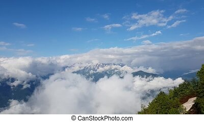 Panorama of Caucasian mountains in Russia - Panorama of the...