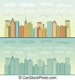 Panorama of cities