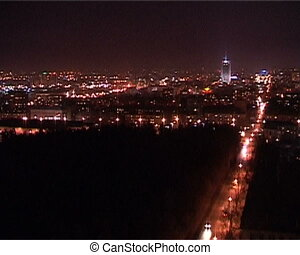 Panorama of city in the night