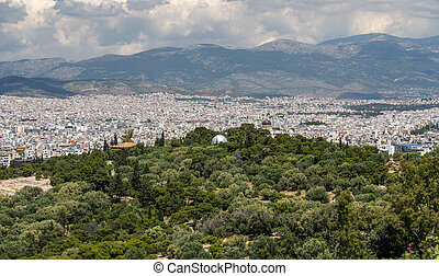 City of Athens taken from the summit of Filopappou Hill