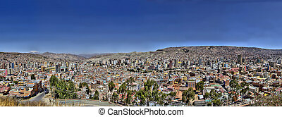 La Paz Bolivia from Killi Killi Viewpoint