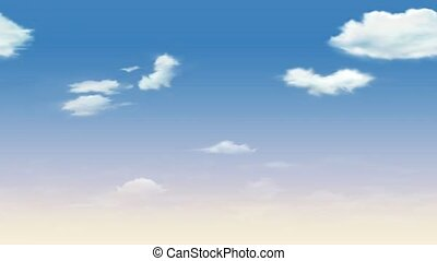 Abstract view of clouds in the sky. White clouds floating in the blue sky. Nice soft summer sky.