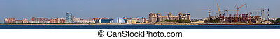 Panorama of coast in Sankt-Peterburg - Panorama of coast of ...