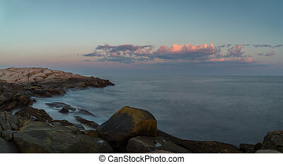 Panorama of  Coastal Scene at Peggys Cove's