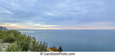 Panorama of Coastal Scene on the Cabot Trail at Dawn
