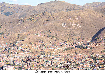 Panorama of Cusco city