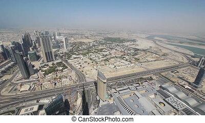 Panorama of Dubai from Burj Khalifa tower