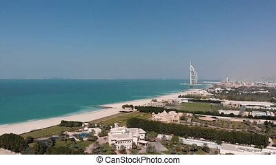 Panorama of Dubai with a view of the hotel Burj Al Arab...