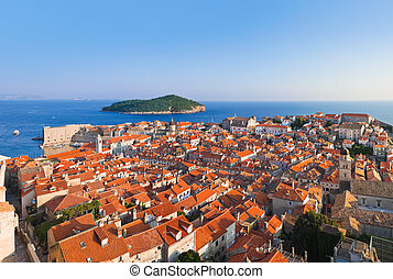 Panorama of Dubrovnik in Croatia - architecture background