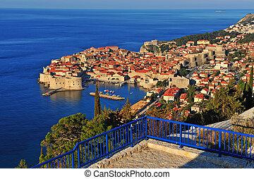 Panorama of Dubrovnik old town, Dalmatia
