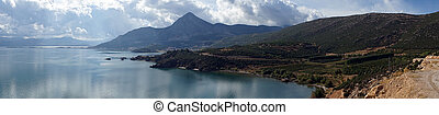 Panorama of Egirdir lake, Turkey