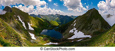 Panorama of Fagaras mountains of Romania. gorgeous landscape...