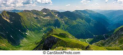 panorama of Fagarasan mountain ridge in summertime. lovely...