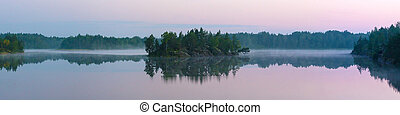 lake in early summer morning