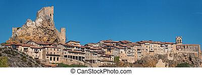 Panorama of Frias medieval village in Burgos, Castilla y Leon, Spain.