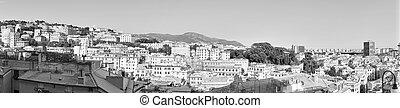 Panorama of Genoa city