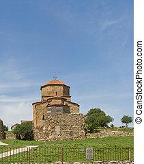 Panorama of Georgian Orthodox church of the 6th century near...