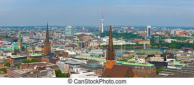 Panorama of Hamburg