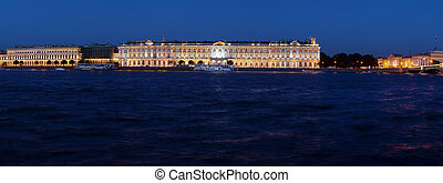 Panorama of Hermitage at Evening, Saint Petersburg