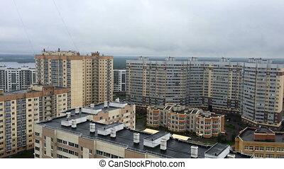 panorama of high-rise residential buildings in Saint-Petersburg