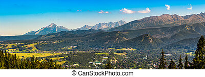 Panorama of High Tatra Mountains - Summer panorama of High...