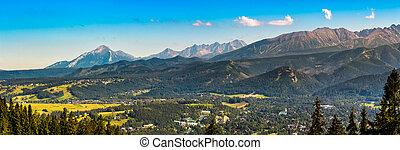Panorama of High Tatra Mountains - Summer panorama of High...