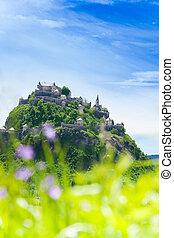 Panorama of Hochosterwitz castle in Austria
