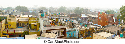 Panorama of indian city - Agra