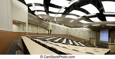 Panorama of Interior of Auditorium at College in Florida.