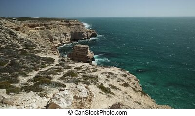 Australian Coral Coast - Panorama of Island Rock, a natural...