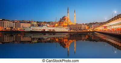 Panorama of Istanbul at a dramatic sunset