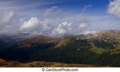 Panorama of Italian Alps - time-lapse