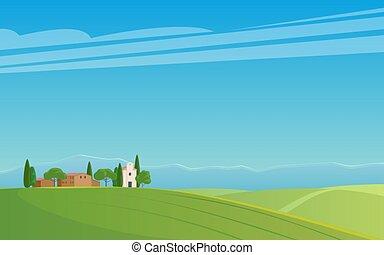 panorama of Italian landscape