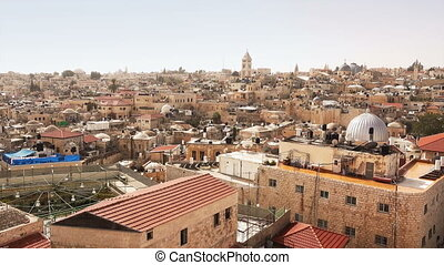 Panorama of Jerusalem - Panorama of city center of Jerusalem