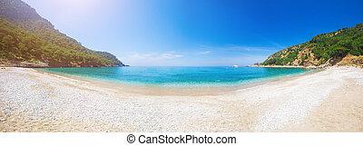 panorama of Kabak beach in Turkey